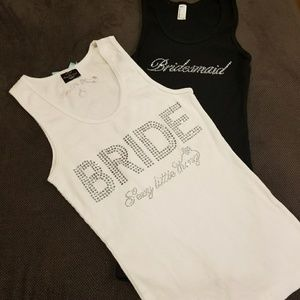 Bride - Sexy Little Thing & Bridesmaid bling tank